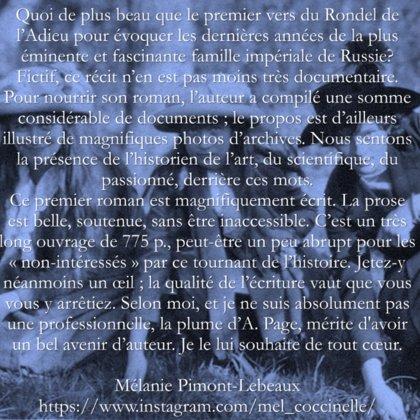 Chronique de Mélanie Pimont-Lebeaux à retrouver sur instagram