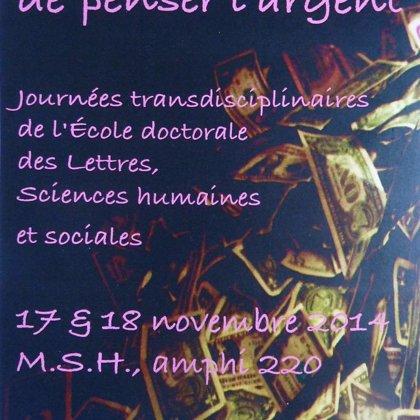 Journées transdisciplinaires (Façons de penser l'argent) 2014